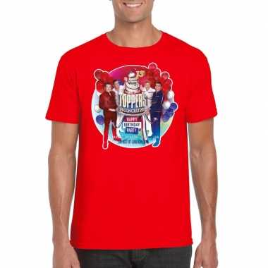 Toppers - rood toppers in concert 2019 officieel t-shirt heren