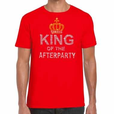 Toppers - rood toppers king of the afterparty glitter t-shirt heren