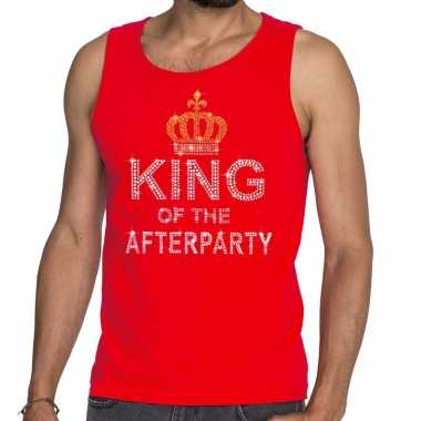 Toppers - rood toppers king of the afterparty glitter tanktop shirt h
