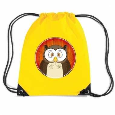 Uilen rugtas / gymtas geel voor kinderen