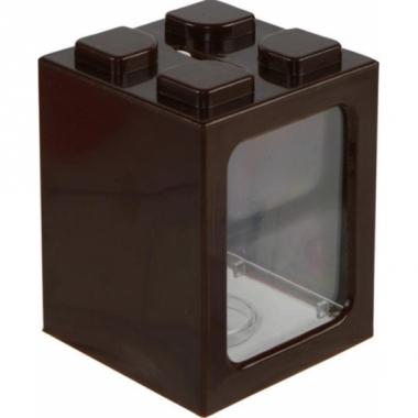Uitbreidbare spaarpot bruin 11 cm