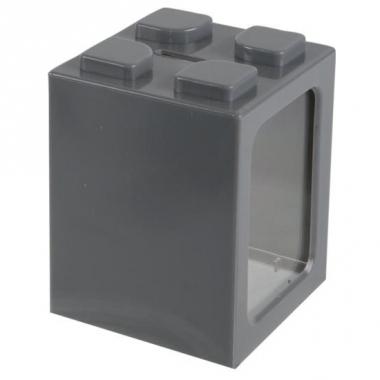 Uitbreidbare spaarpot grijs 11 cm