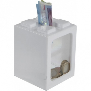 Uitbreidbare spaarpot wit 11 cm