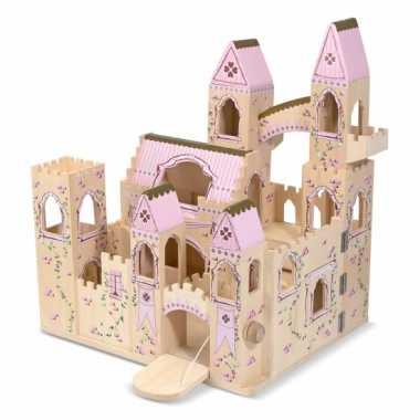 Uitklapbaar kasteel van hout