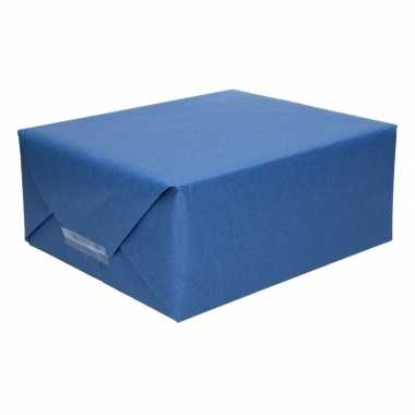 Uni kraftpapier donkerblauw 200 cm
