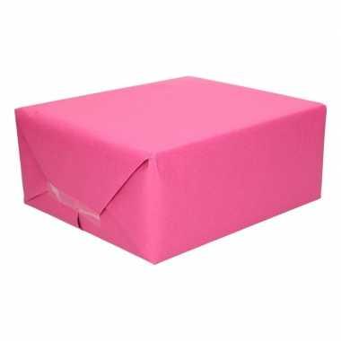 Uni kraftpapier fuchsia roze 200 cm