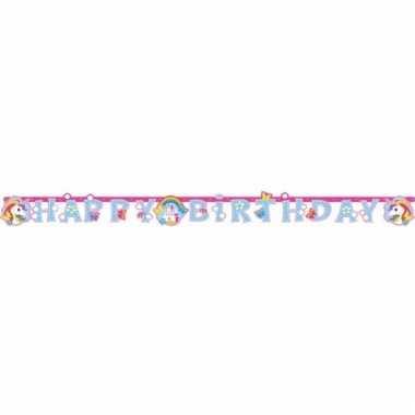 Unicorn versiering letterslingers 180 cm