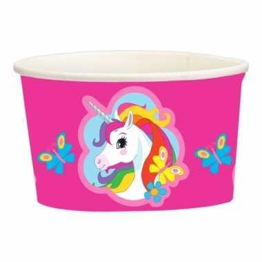 Unicorn wegwerp bakjes set van 8