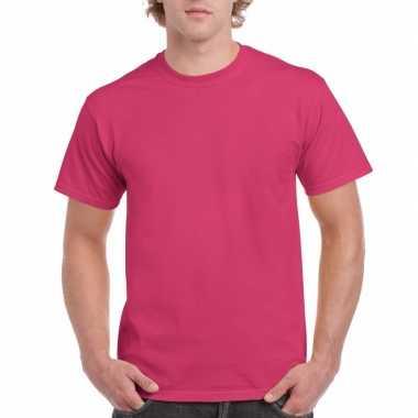 Unisex katoenen shirt fuchsia roze voor volwassenen