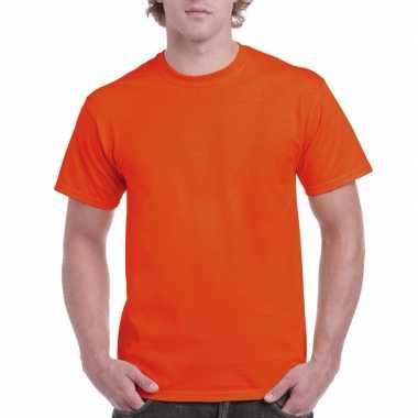Unisex katoenen shirt oranje voor volwassenen