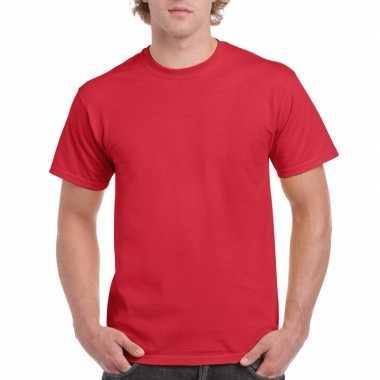 Unisex katoenen shirt rood voor volwassenen