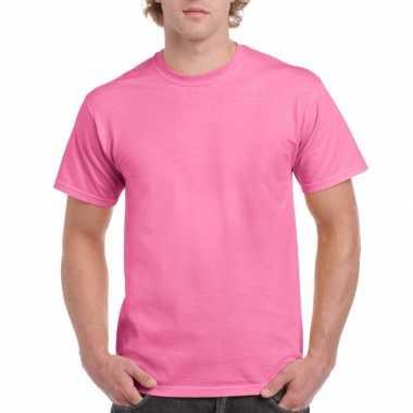 Unisex katoenen shirt roze voor volwassenen