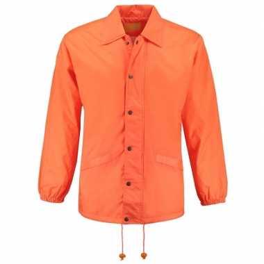 Unisex windjack oranje volwassenen