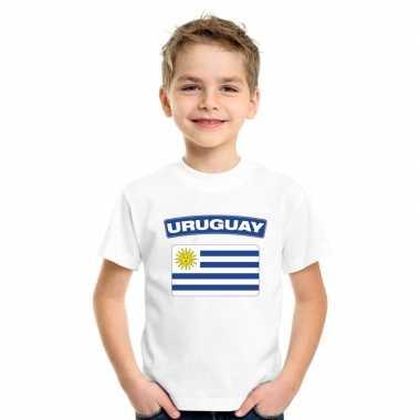 Uruguayaanse vlag kinder shirt wit