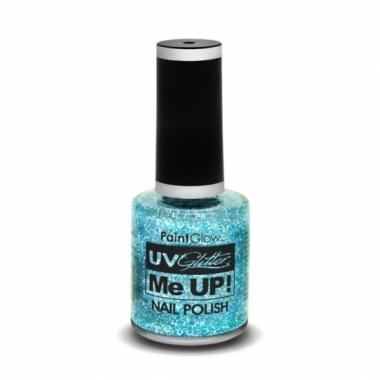 Uv glitter nagellak neon blauw