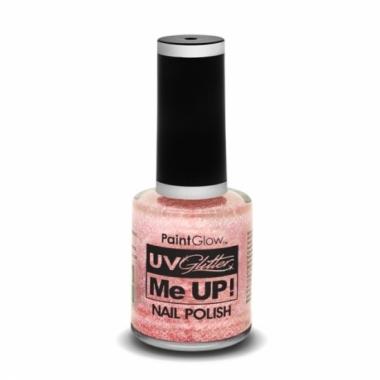 Uv glitter nagellak neon champagne roze
