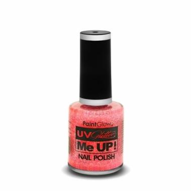 Uv glitter nagellak neon roze