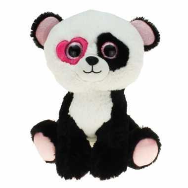 Valentijn pandabeer knuffel met hartje 30 cm