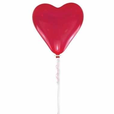 Valentijnsdag versiering rood hart ballon 70 cm