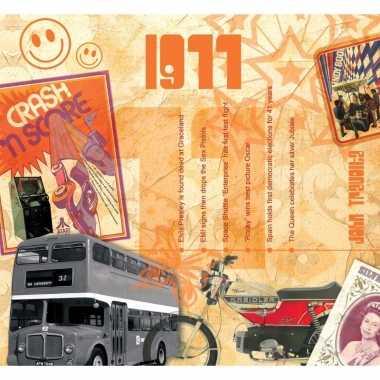 Veertigste verjaardag kaart met hits uit 1977