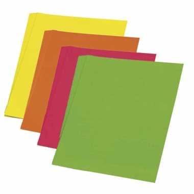 Vel karton fluor groen 48 x 68 cm