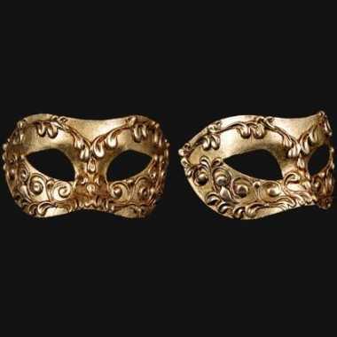 Venetiaanse oogmaskers barok goud