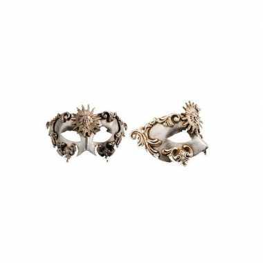 Venetiaanse oogmaskers barok zilver