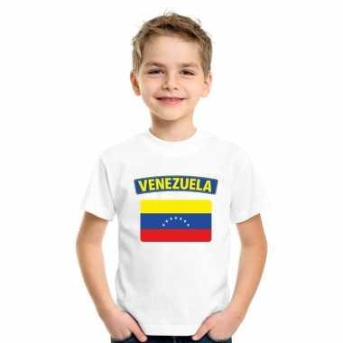 Venezolaanse vlag kinder shirt wit