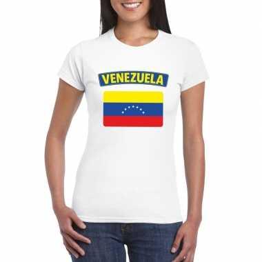 Venezolaanse vlag shirt wit dames