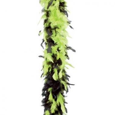 Veren boa lime groen met zwart 180 cm
