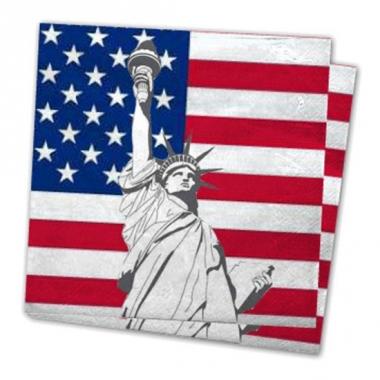 Verenigde staten thema servetjes 20 st