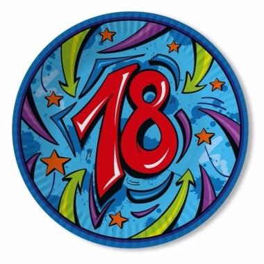 Verjaadags borden 18 jaar blauw