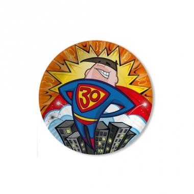 Verjaadags borden 30 jaar superheld