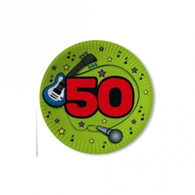 Verjaadags borden 50 jaar groen