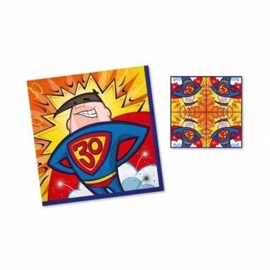Verjaadags servetten 30 jaar superman