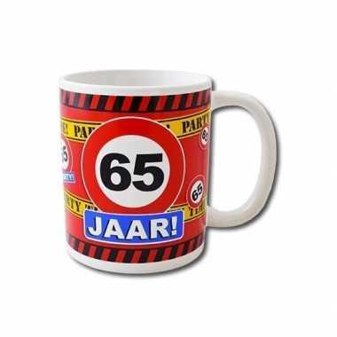 Verjaardag 65 jaar mok / beker 250 ml