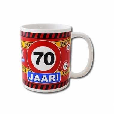Verjaardag 70 jaar mok / beker 250 ml