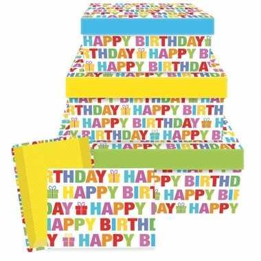 Verjaardag cadeautje happy birthday 17,5 cm