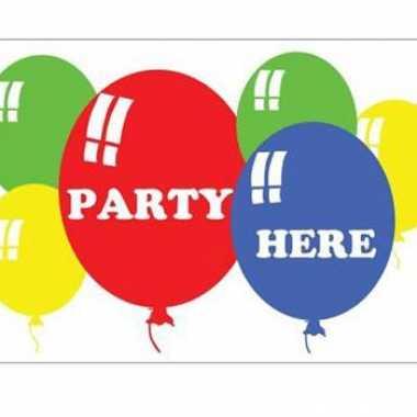Verjaardag feest vlag party here
