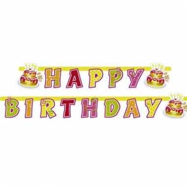 Verjaardag slinger happy birthday