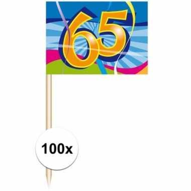 Verjaardags prikkers 65 jaar 100 stuks