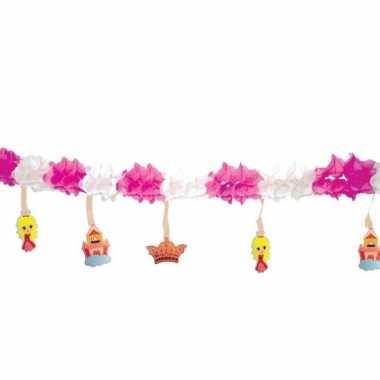 Verjaardags slinger thema prinses 300 cm
