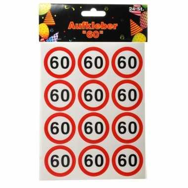 Verjaardags stickers 60 jaar