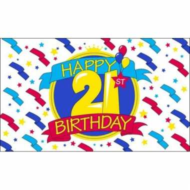 Verjaardags vlaggen 21 jaar