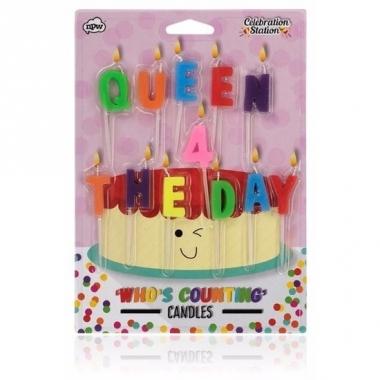 Verjaardagskaarsjes queen for the day
