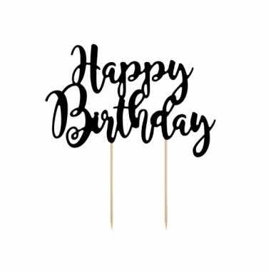 Verjaardagstaart topper happy birthday