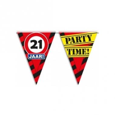 Verjaardagsvlaggetjes 21 jaar 10m