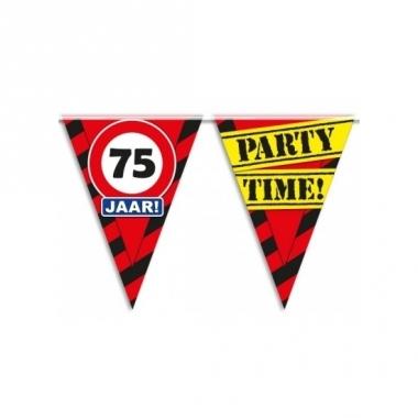 Verjaardagsvlaggetjes 75 jaar 10m