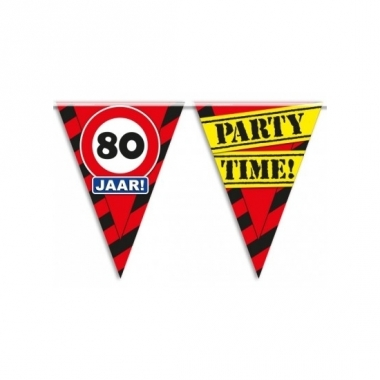 Verjaardagsvlaggetjes 80 jaar 10m
