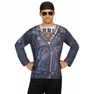 Verkleed biker shirt voor heren